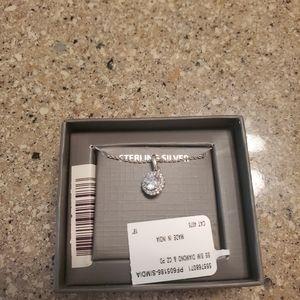 Sterling silver cz necklace